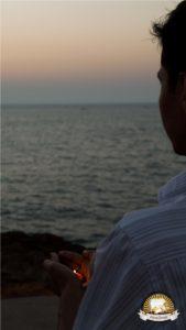 द्वारिका में सूर्य अस्त का अनोखा दृश्य