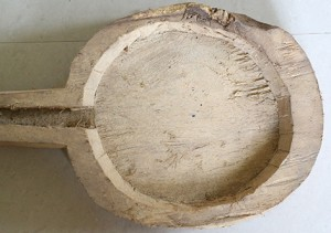 काष्ठ यन्त्र का गर्भ (पलाश की लकड़ी का.)